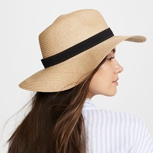 Madewell Straw Hat (brown band)
